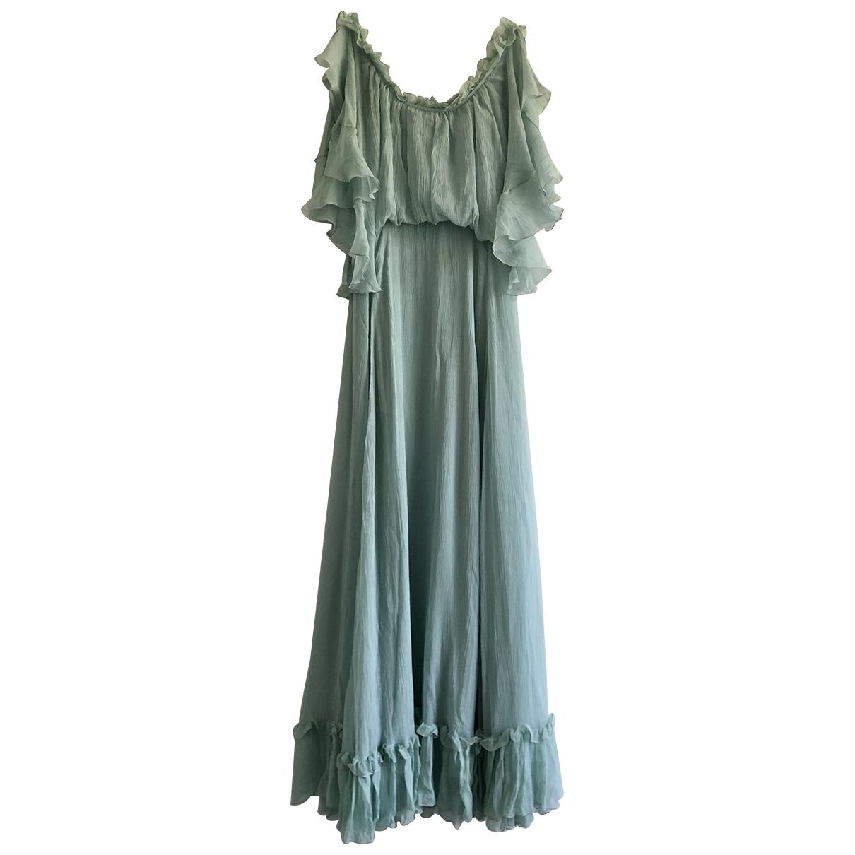 Luisa Beccaria \N Turquoise Silk dress for Women 40 IT