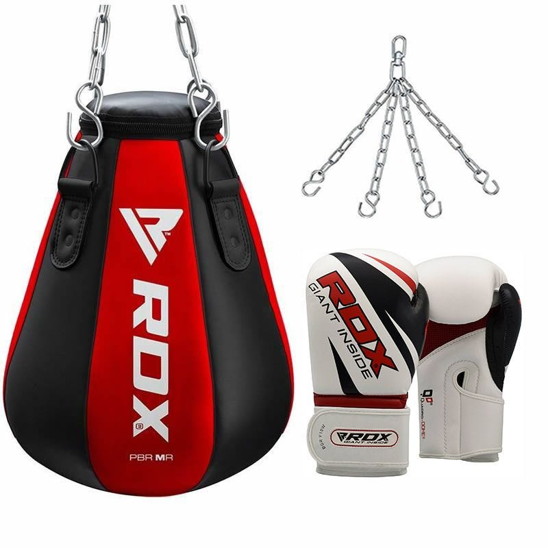 RDX Maize Sac de Boxe 16oz Rouge Cuir PU