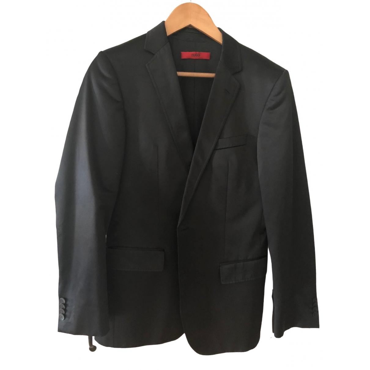 Hugo Boss - Costumes   pour homme en coton - noir