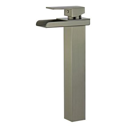 Oviedo Collection 10167N5-BN-W Single Handle Bathroom Vanity Faucet with Pop-Up Drain with Overflow in Brushed