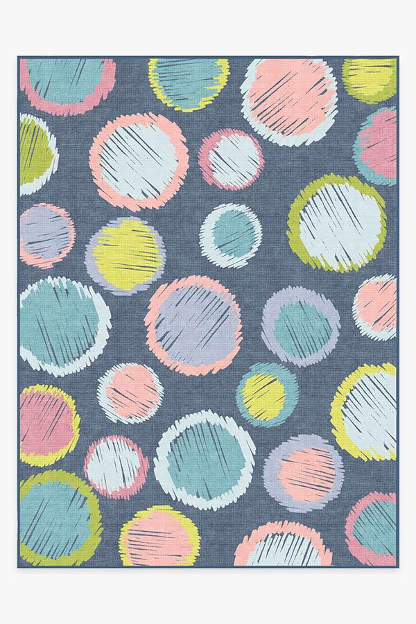 Washable Rug Cover   Freckles Teal Rug   Stain-Resistant   Ruggable   9'x12'