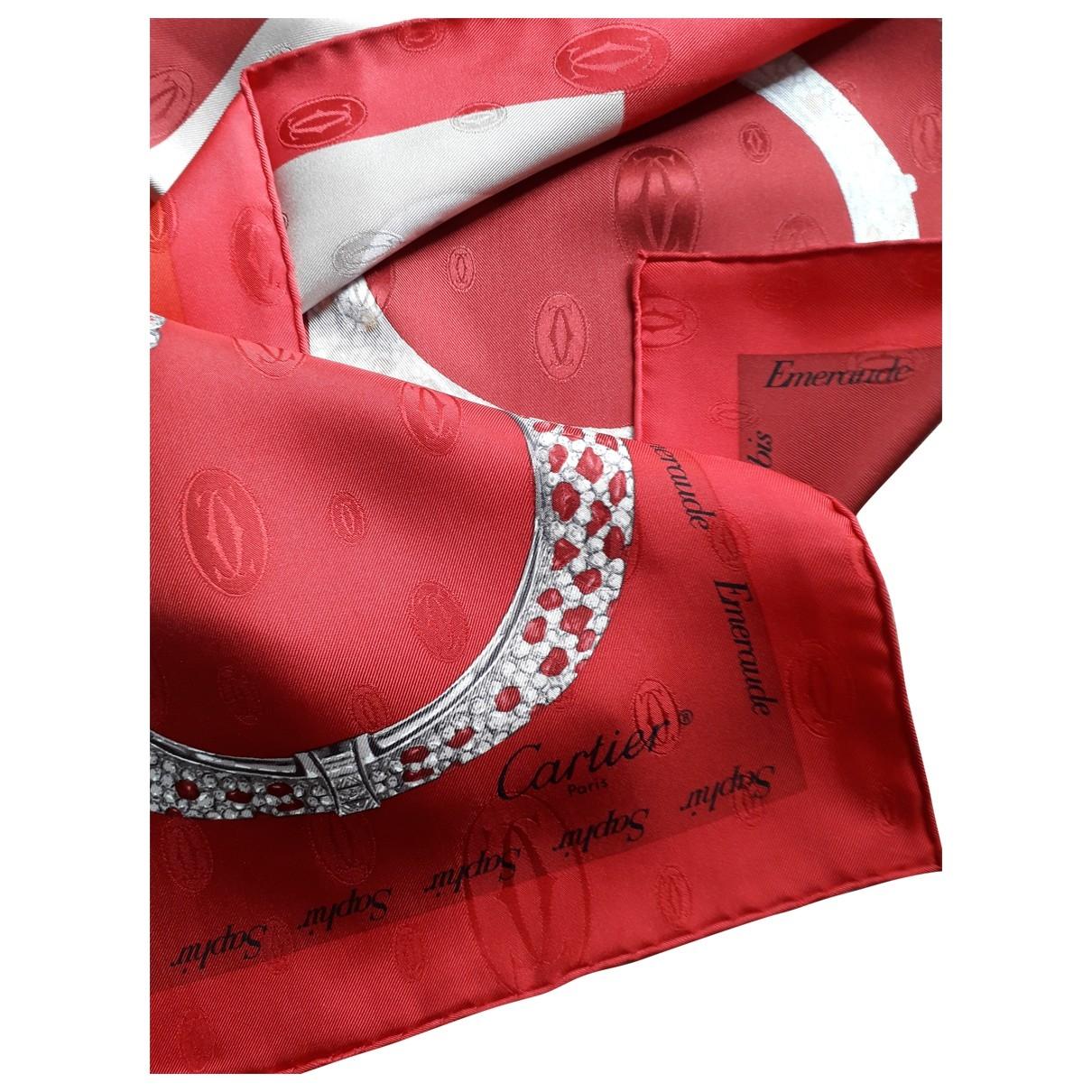 Cartier \N Red Silk Silk handkerchief for Women \N