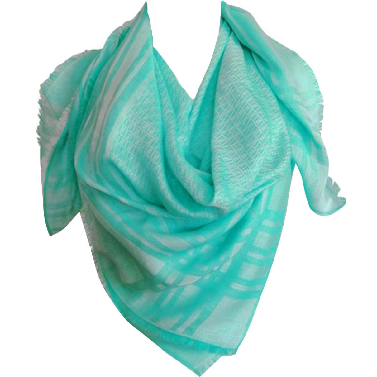 Fendi \N Green Cotton scarf for Women \N