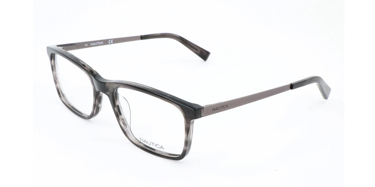 Nautica N8153 015 Men's Glasses Grey Size 56 - Free Lenses - HSA/FSA Insurance - Blue Light Block Available