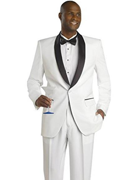 White And Black Lapel Tuxedo Suit/Pants Blazer Dinner Jacket Looking