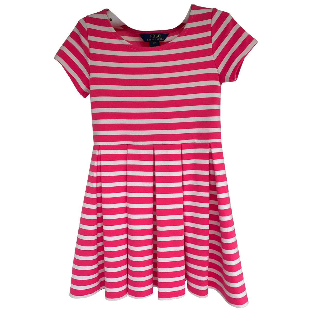 Polo Ralph Lauren - Robe    pour enfant en coton - multicolore
