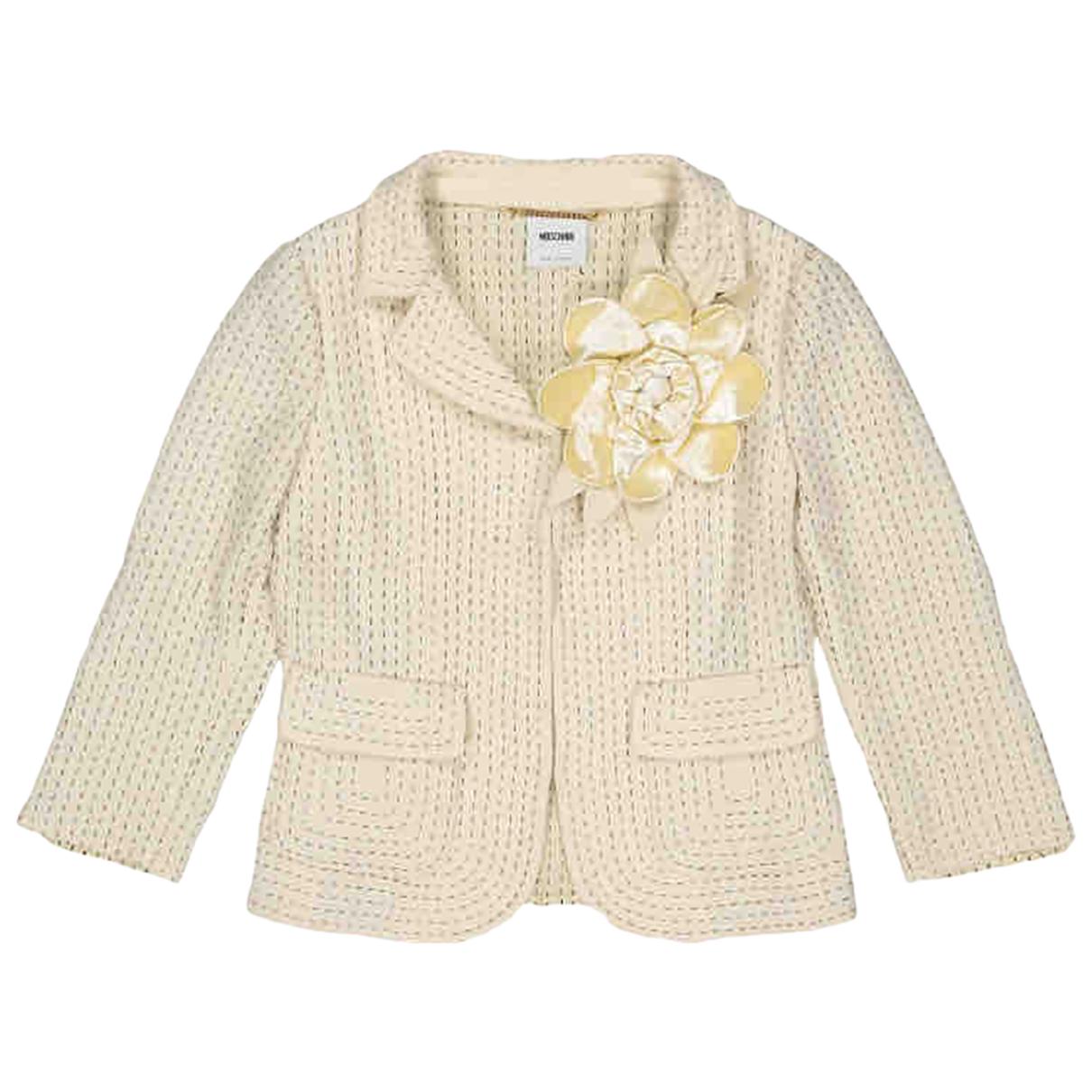 Moschino N Ecru Wool jacket for Women 42 IT