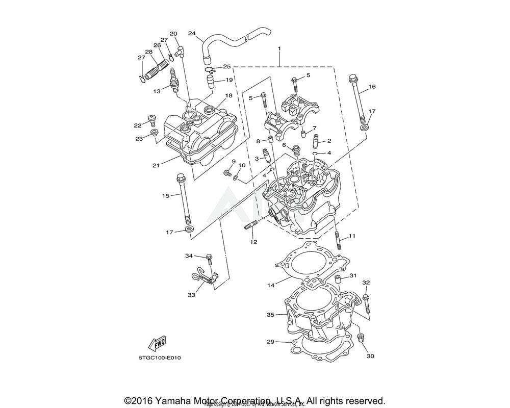Yamaha OEM 90109-066F0-00 BOLT