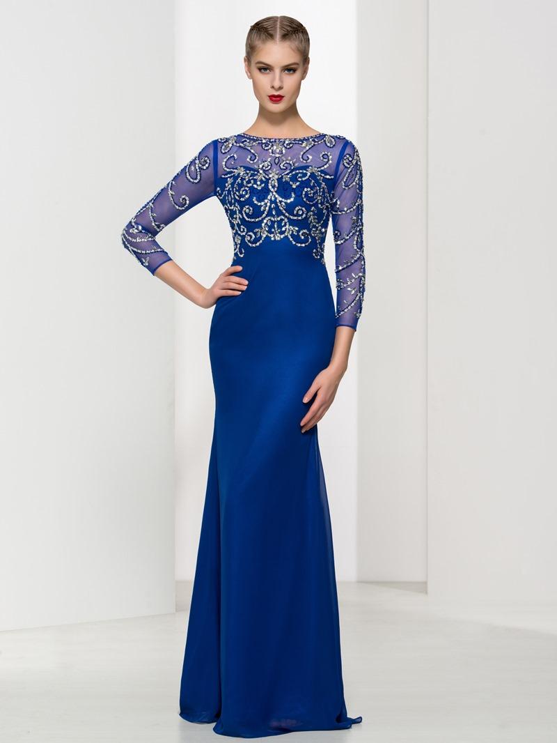 Ericdress Sheath 3/4 Length Sleeves Beading Evening Dress
