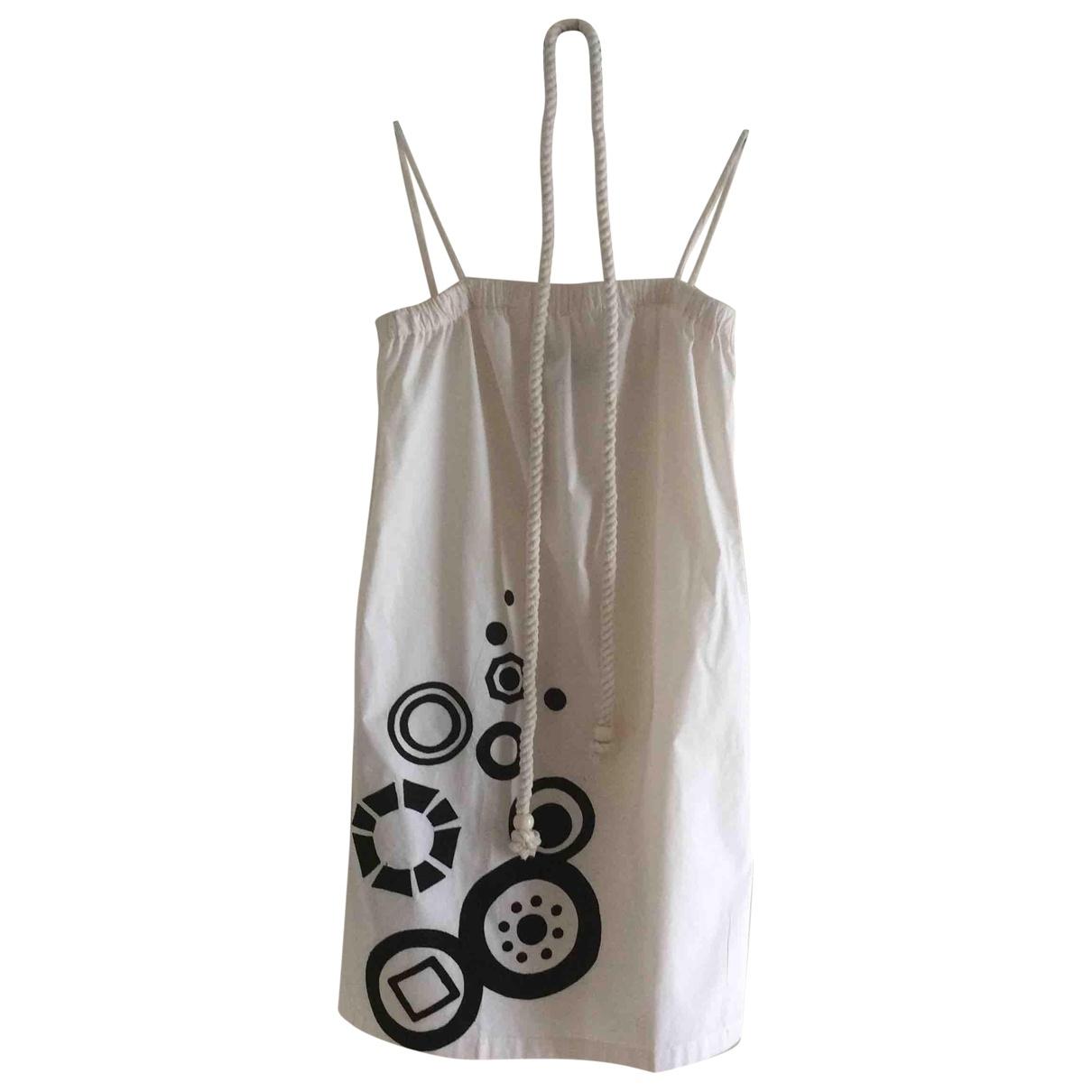 Hoss Intropia \N Kleid in  Ecru Baumwolle
