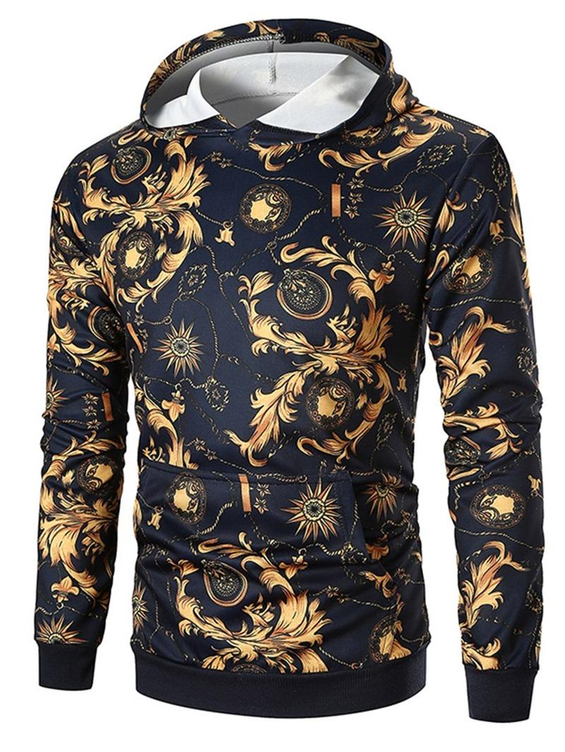 Ericdress Color Block Pullover Men's Patchwork Hoodies