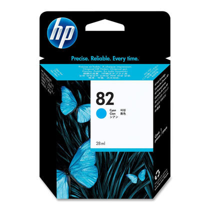 HP 82 CH566A Original Cyan Ink Cartridge 28ML