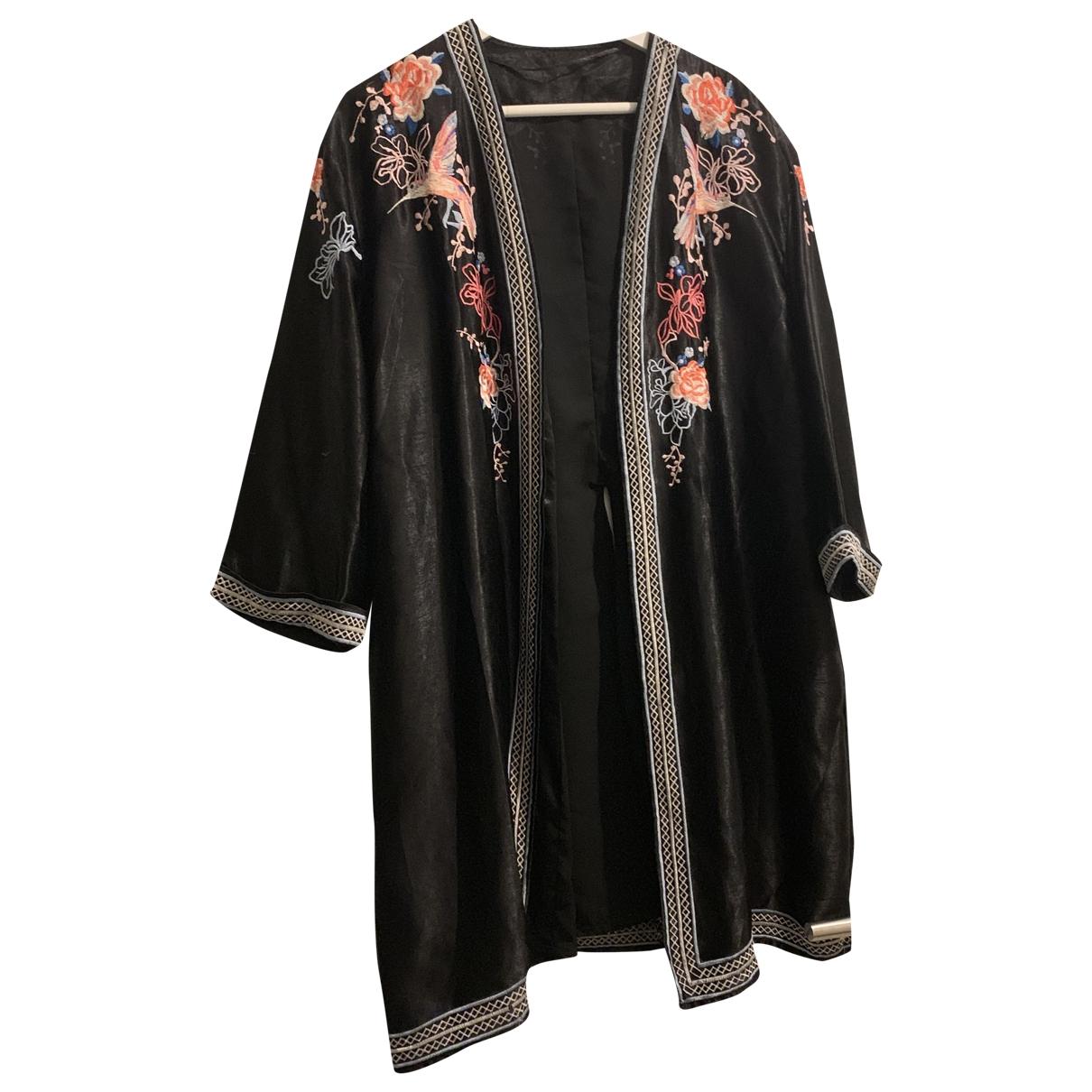 - Blouson Hippie Chic pour femme en soie - noir