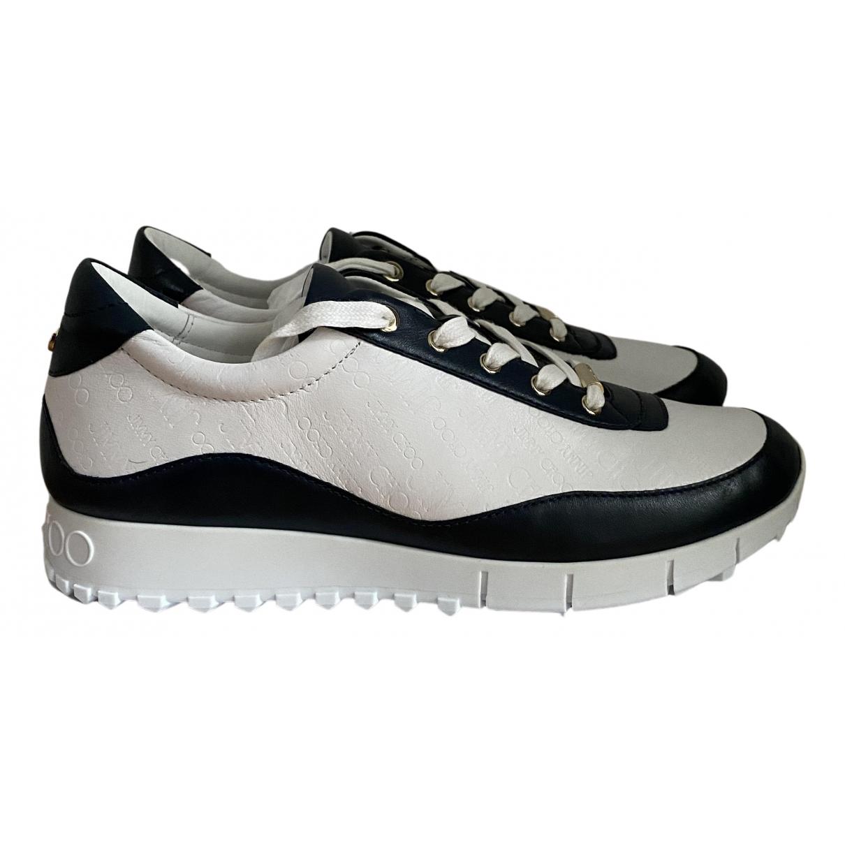 Jimmy Choo \N Sneakers in  Weiss Veloursleder