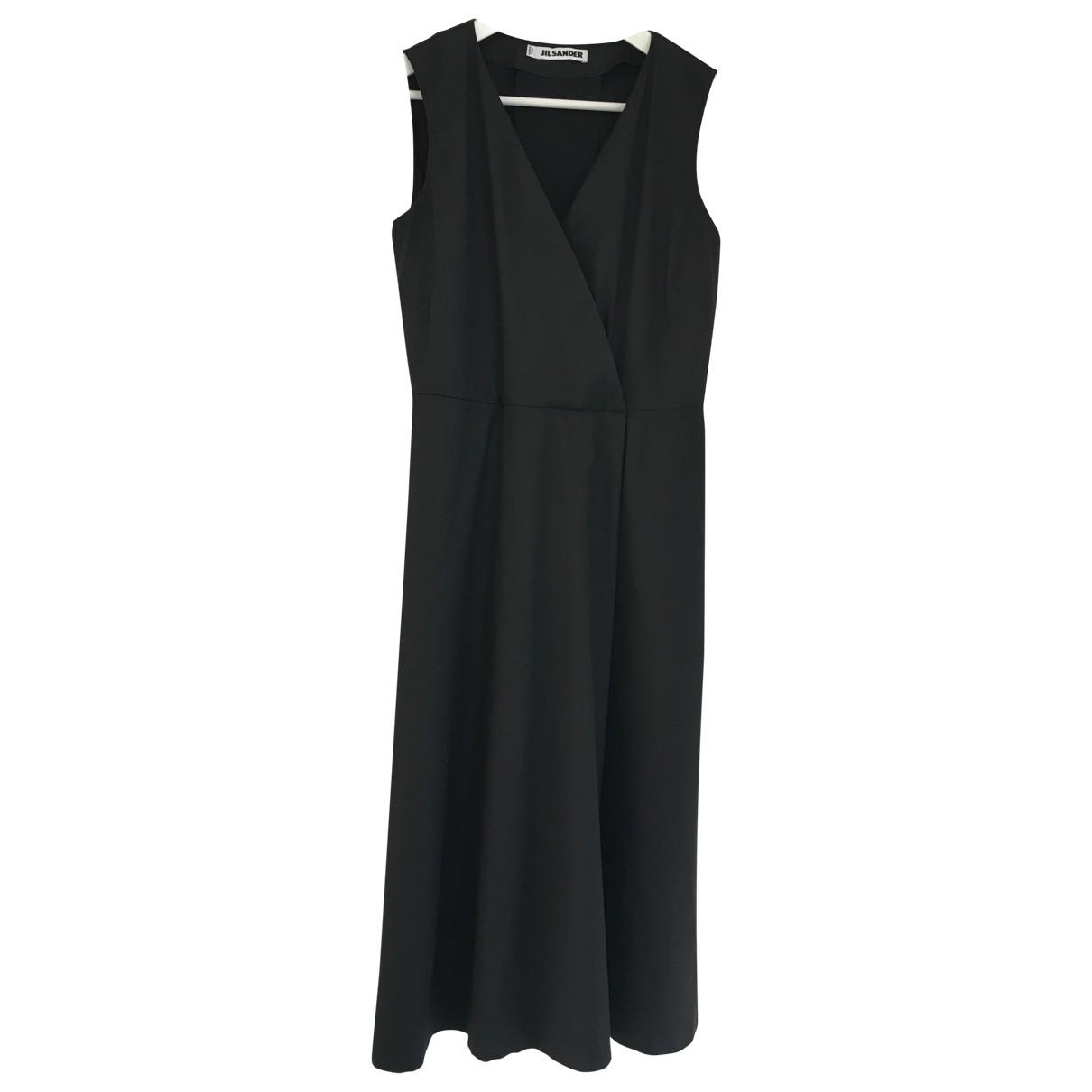 Jil Sander \N Black Cotton - elasthane dress for Women 10 UK
