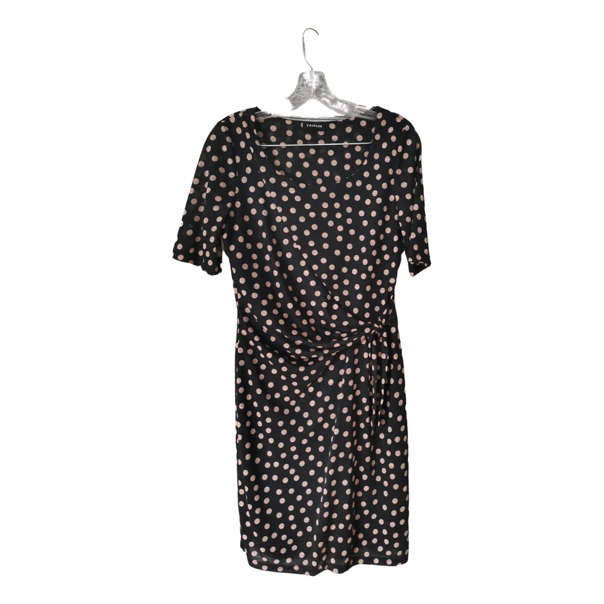 Non Signé / Unsigned Hippie Chic Black Cotton - elasthane dress for Women M International