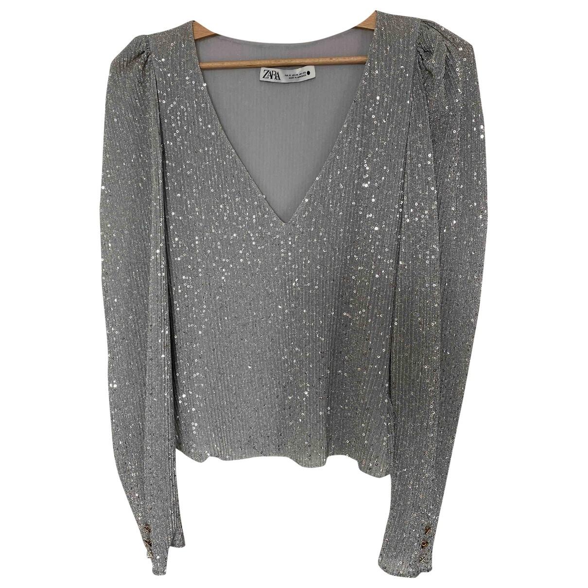 Zara \N Silver  top for Women M International