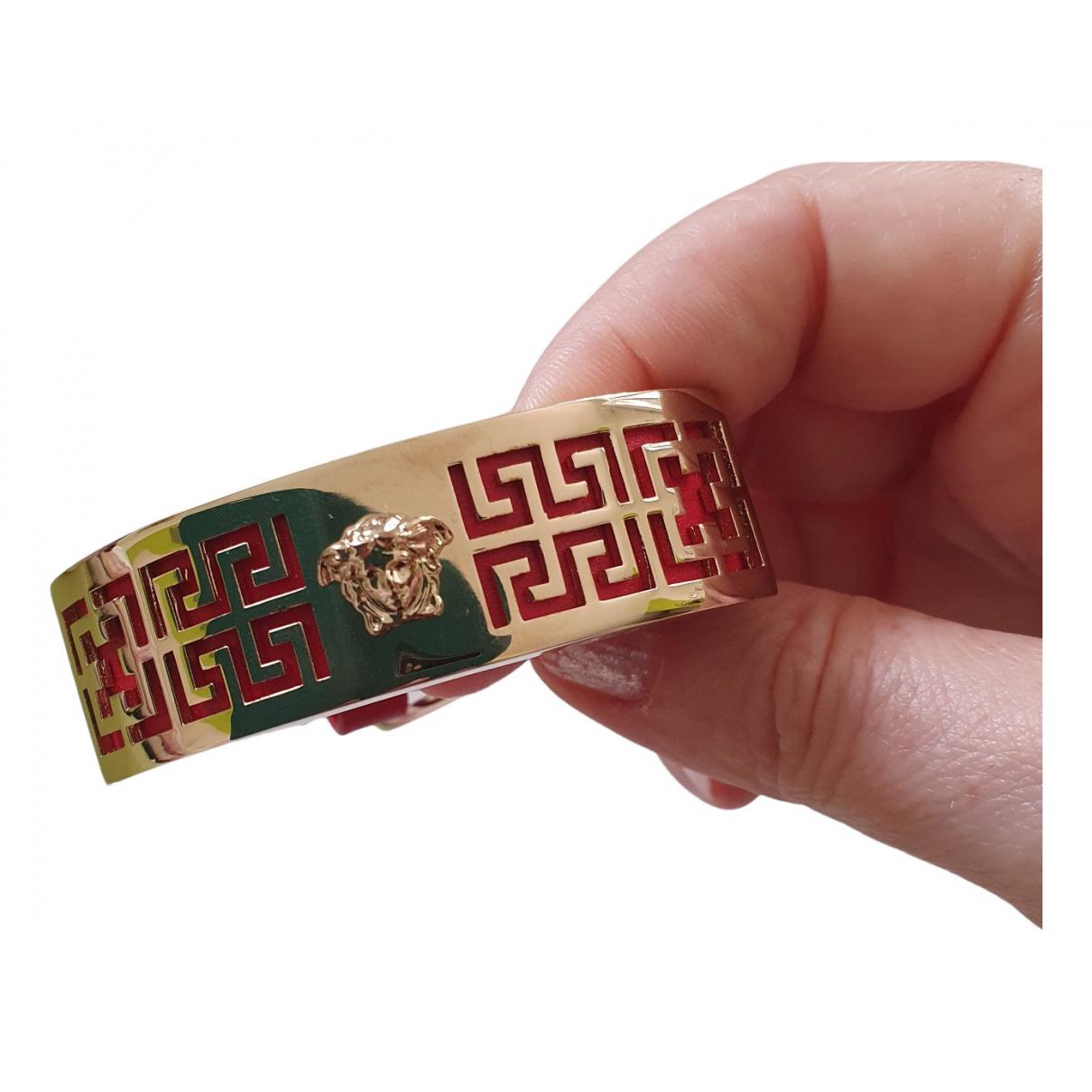 Gianni Versace \N Armband in  Rot Leder