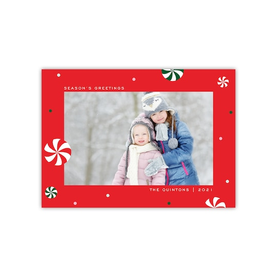 20 Pack of Gartner Studios® Personalized Peppermints Flat Holiday Photo Card in Red | 5 x 7 | Michaels®