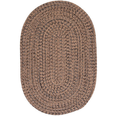 Colonial Mills Grafton Tweed Reversible Braided Oval Rug, One Size , White