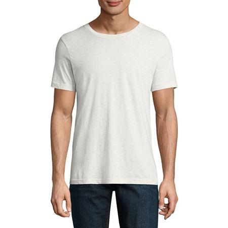 Arizona Super Soft Mens Crew Neck Short Sleeve T-Shirt, X-small , White