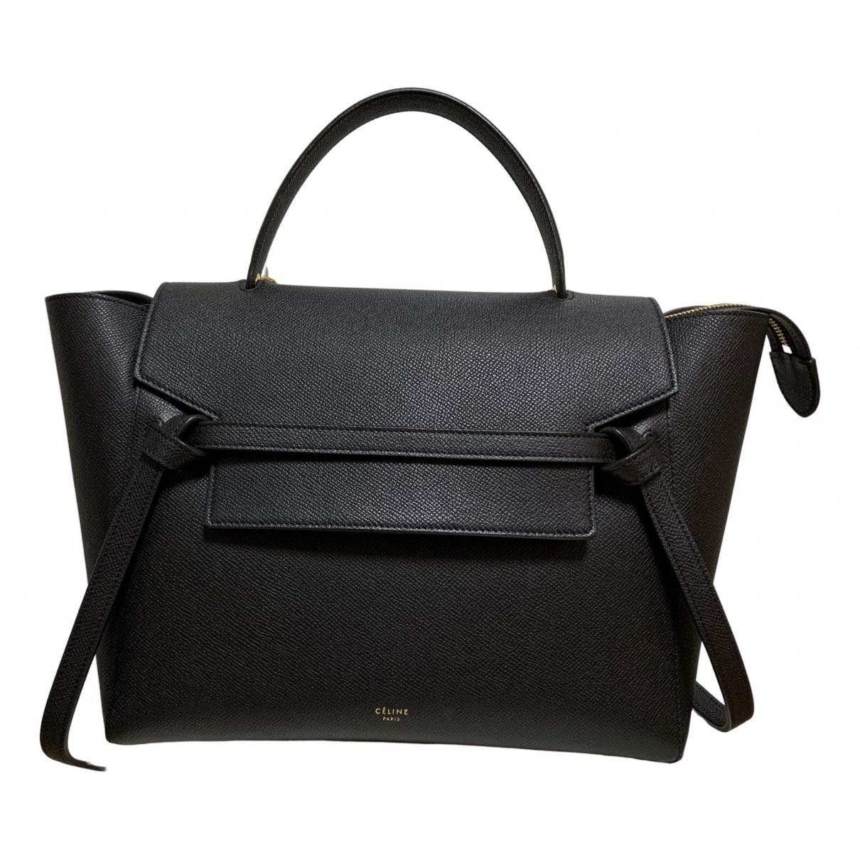 Celine Belt Black Leather handbag for Women \N