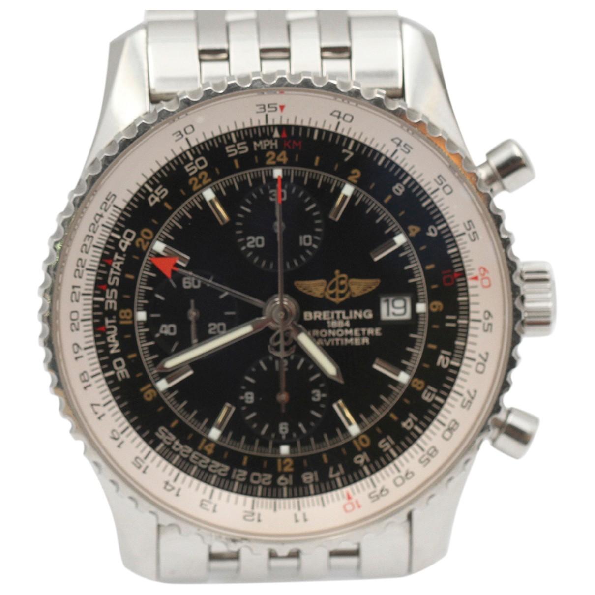 Breitling Navitimer Silver Steel watch for Men N