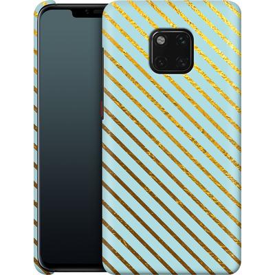 Huawei Mate 20 Pro Smartphone Huelle - Gold Foil Stripe von Khristian Howell