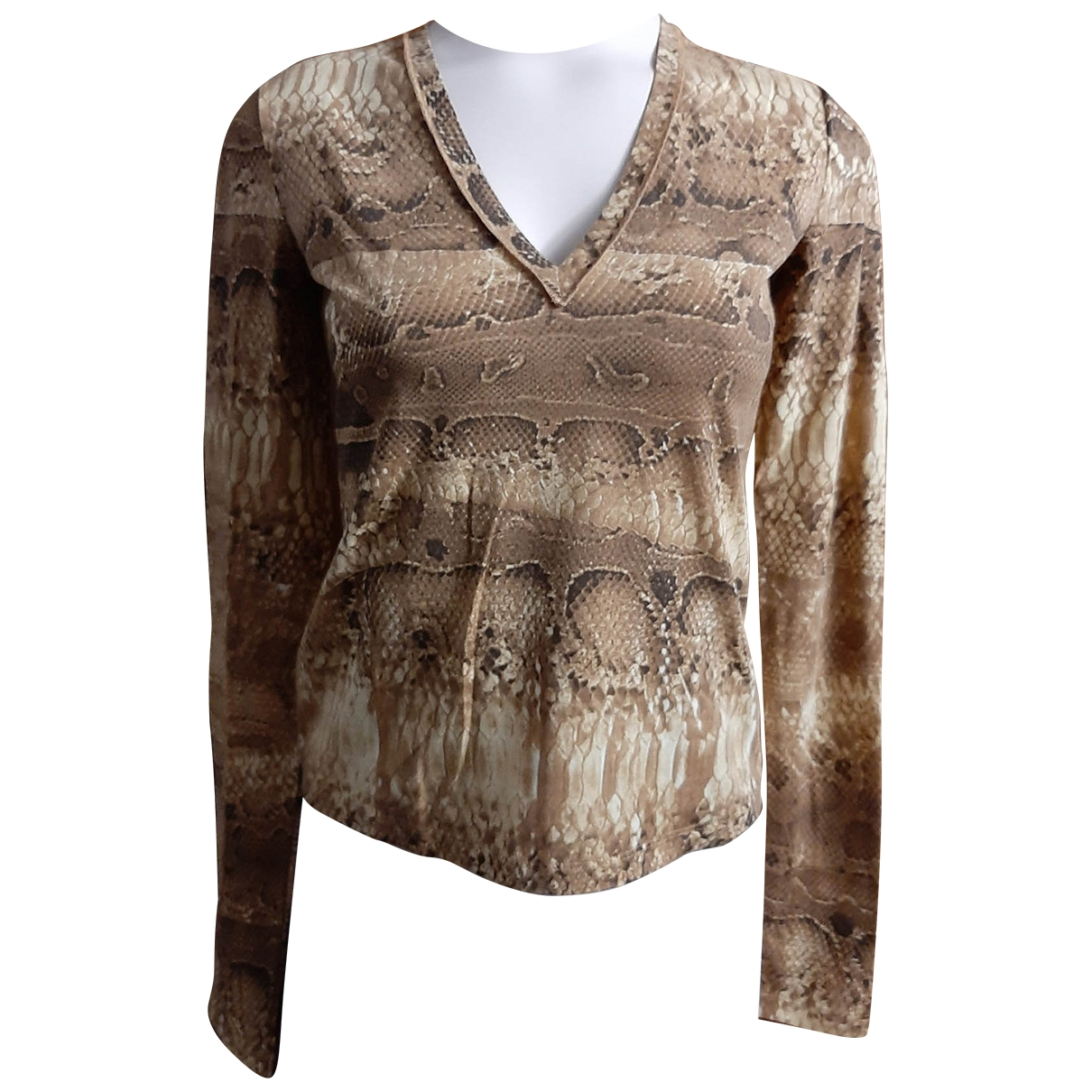 Just Cavalli - Top   pour femme en coton - beige