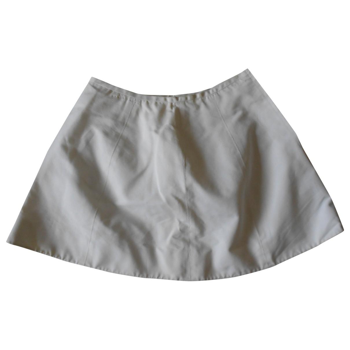 Claude Montana - Jupe   pour femme en coton - blanc