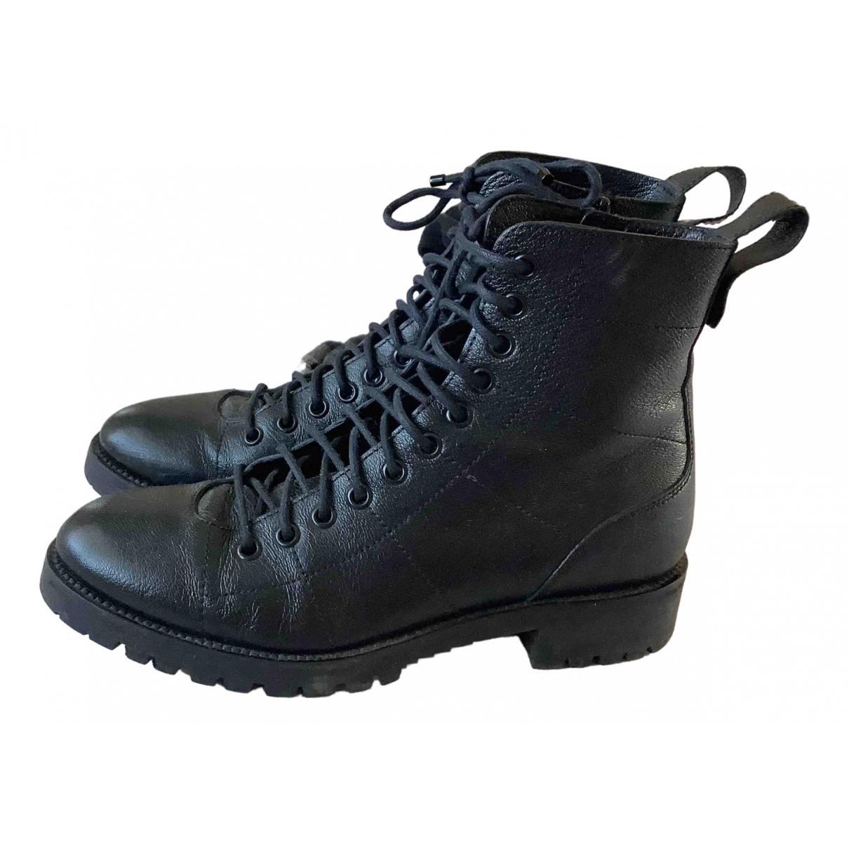 Jimmy Choo \N Black Leather Boots for Women 37.5 EU
