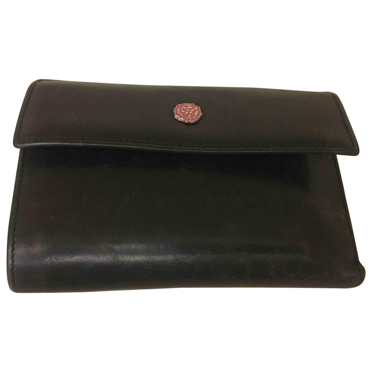 Versus \N Black Leather wallet for Women \N