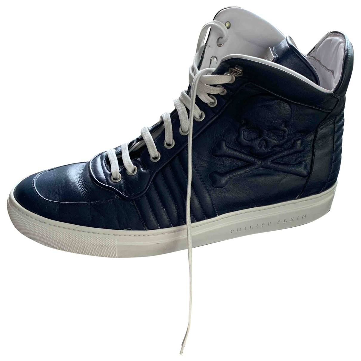 Philipp Plein \N Blue Leather Trainers for Men 42 IT