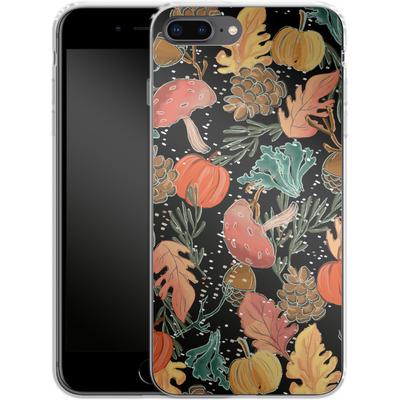 Apple iPhone 7 Plus Silikon Handyhuelle - Fall Woodland Black von Mukta Lata Barua