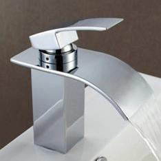 New Arrival Modern Single Handle Waterfall Brass Bathroom/Kitchen Sink Faucet