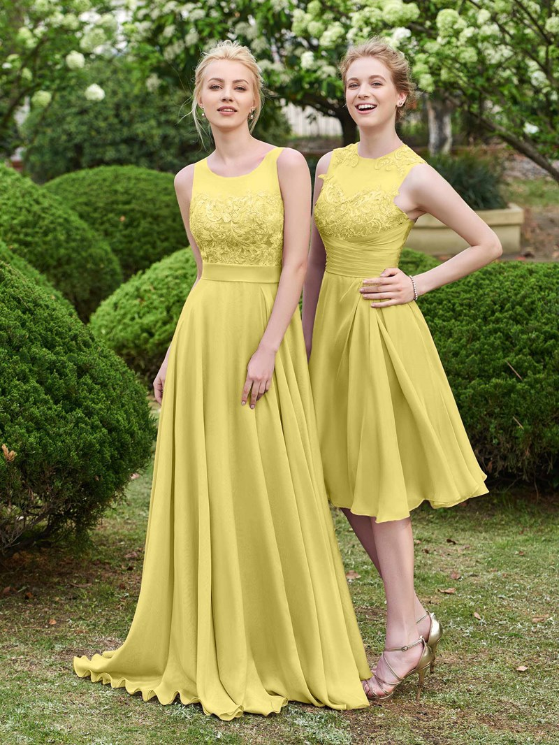 Ericdress Scoop Neck Sashes Lace Bridesmaid Dress