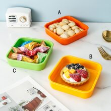 1pc Square Snack Plate