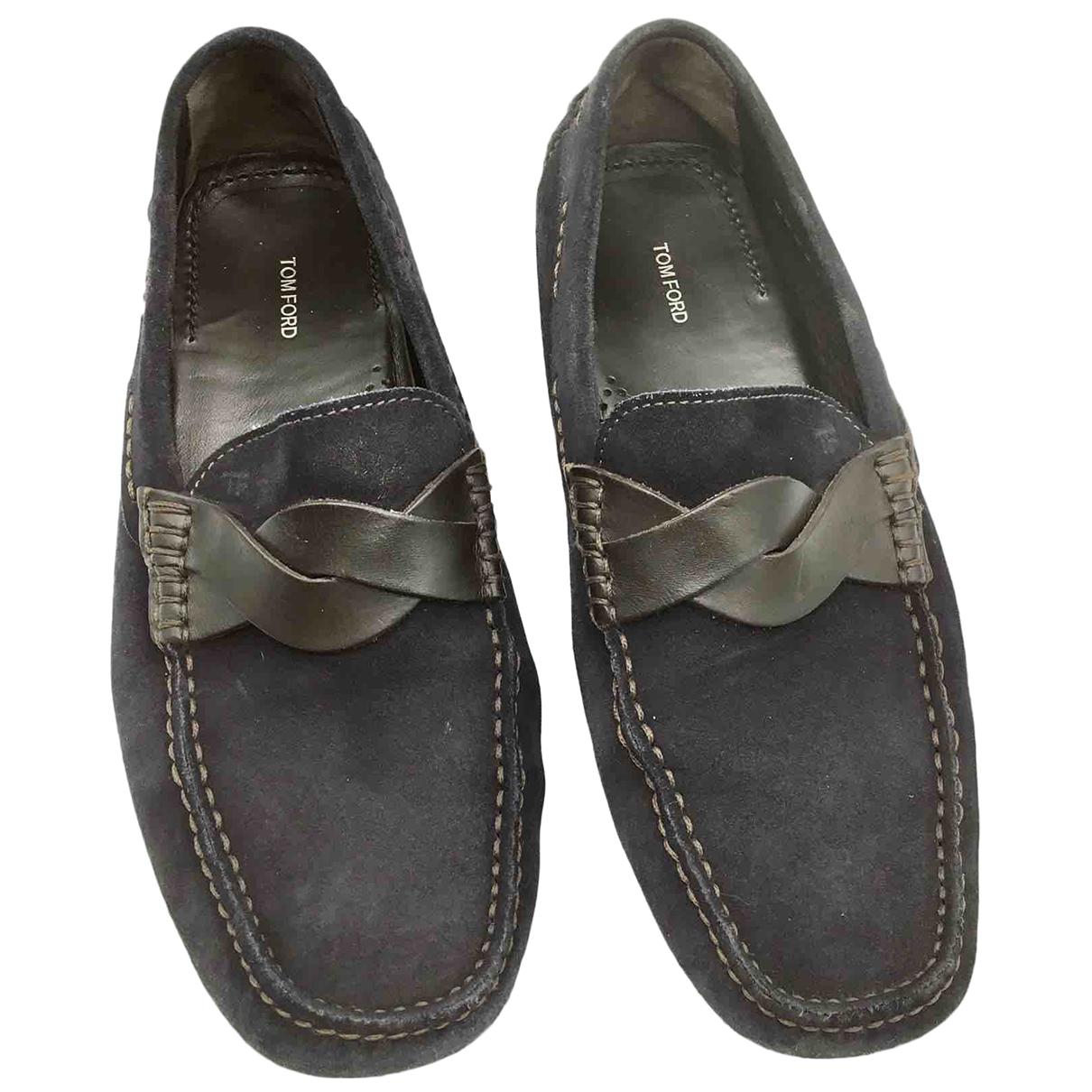 Tom Ford \N Blue Suede Flats for Men 6.5 US