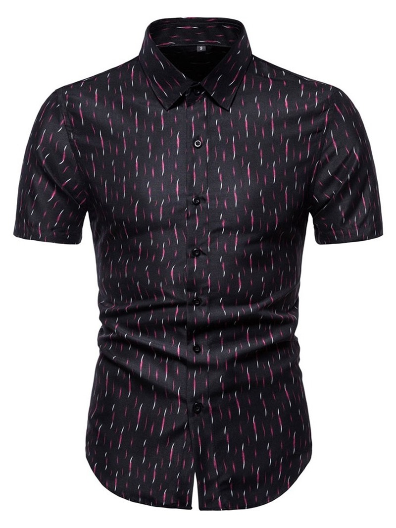 Ericdress Print European Lapel Single-Breasted Summer Shirt