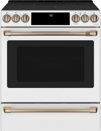 CES700P4MW2 30 Matte Collection Slide-In Front Control Radiant and Convection Range with Warming Drawer  WiFi Connect  Temperature Probe  5.7 cu.