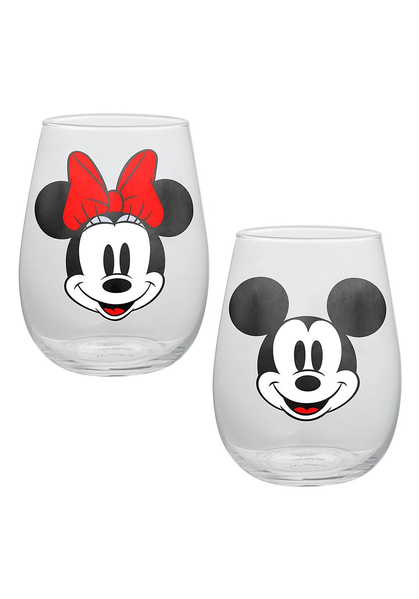 Disney Mickey & Minnie Mouse 18oz Contour Glasses