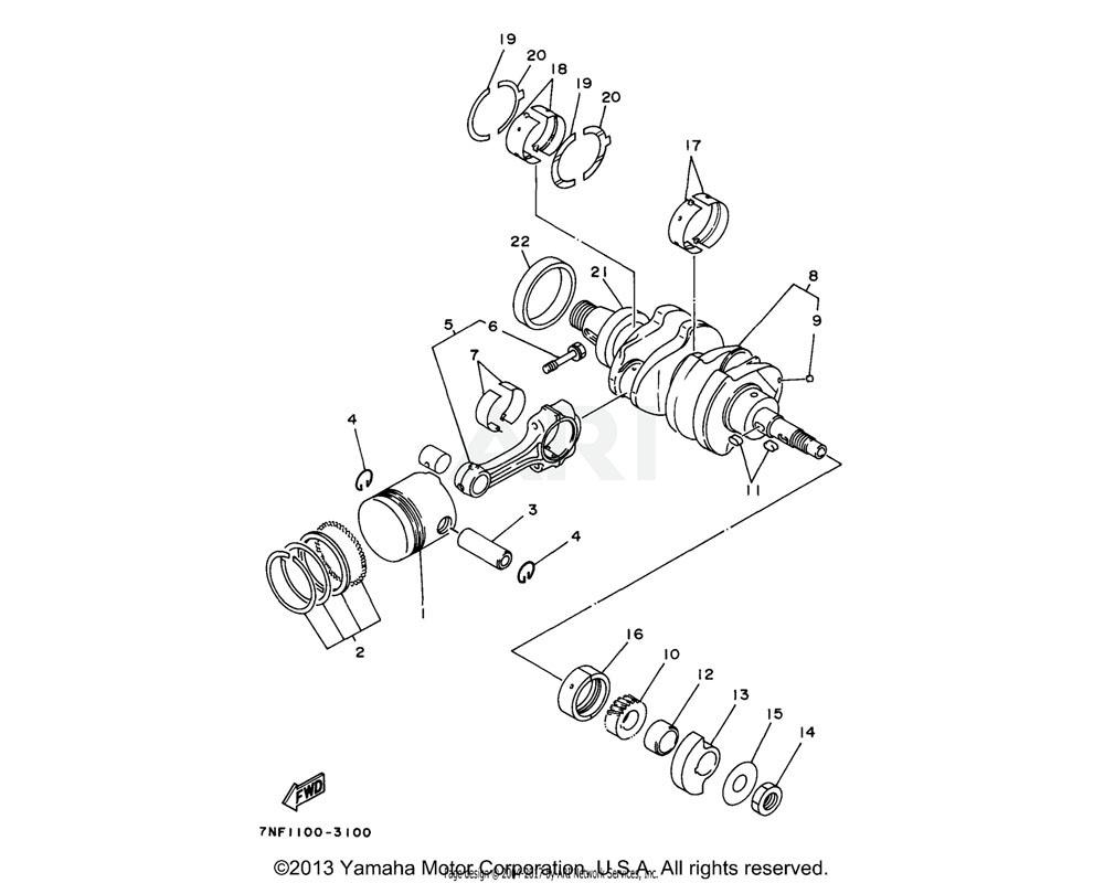 Yamaha OEM YF1-52612-39-70 SIDE METAL 2 (+0.20MM) | AP