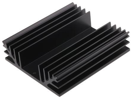 ABL Components Heatsink, Universal Rectangular Alu, 1.5K/W, 100 x 88 x 25mm, Black