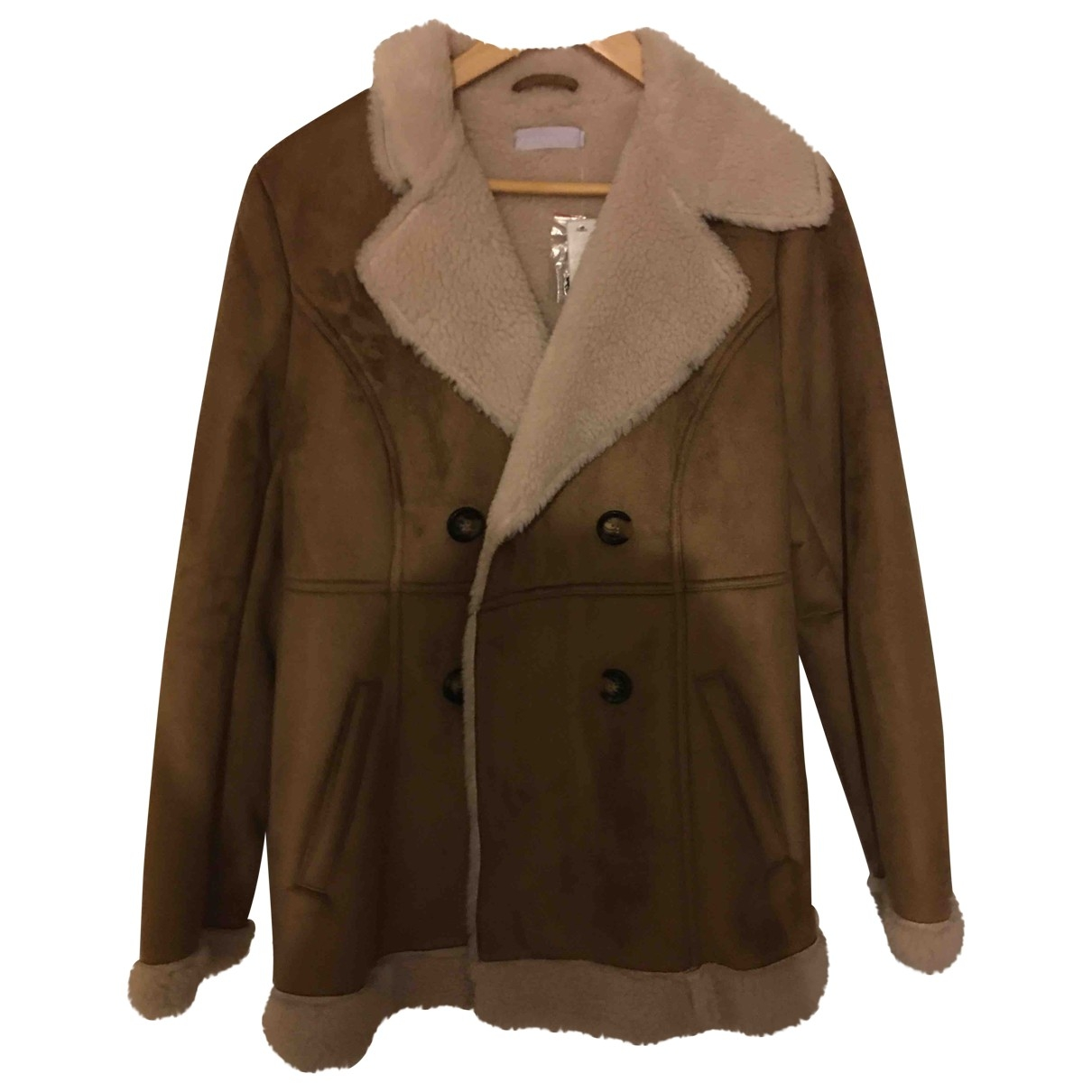 Non Signé / Unsigned \N Brown coat for Women 12 UK