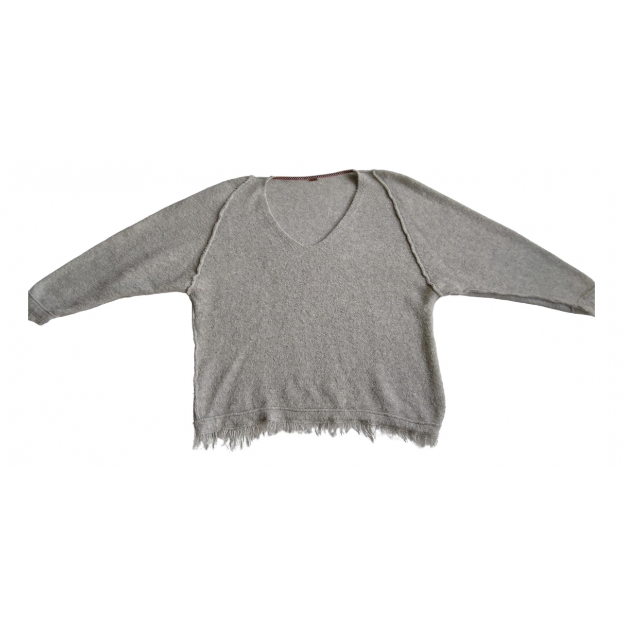 Free People \N Pullover in  Grau Wolle