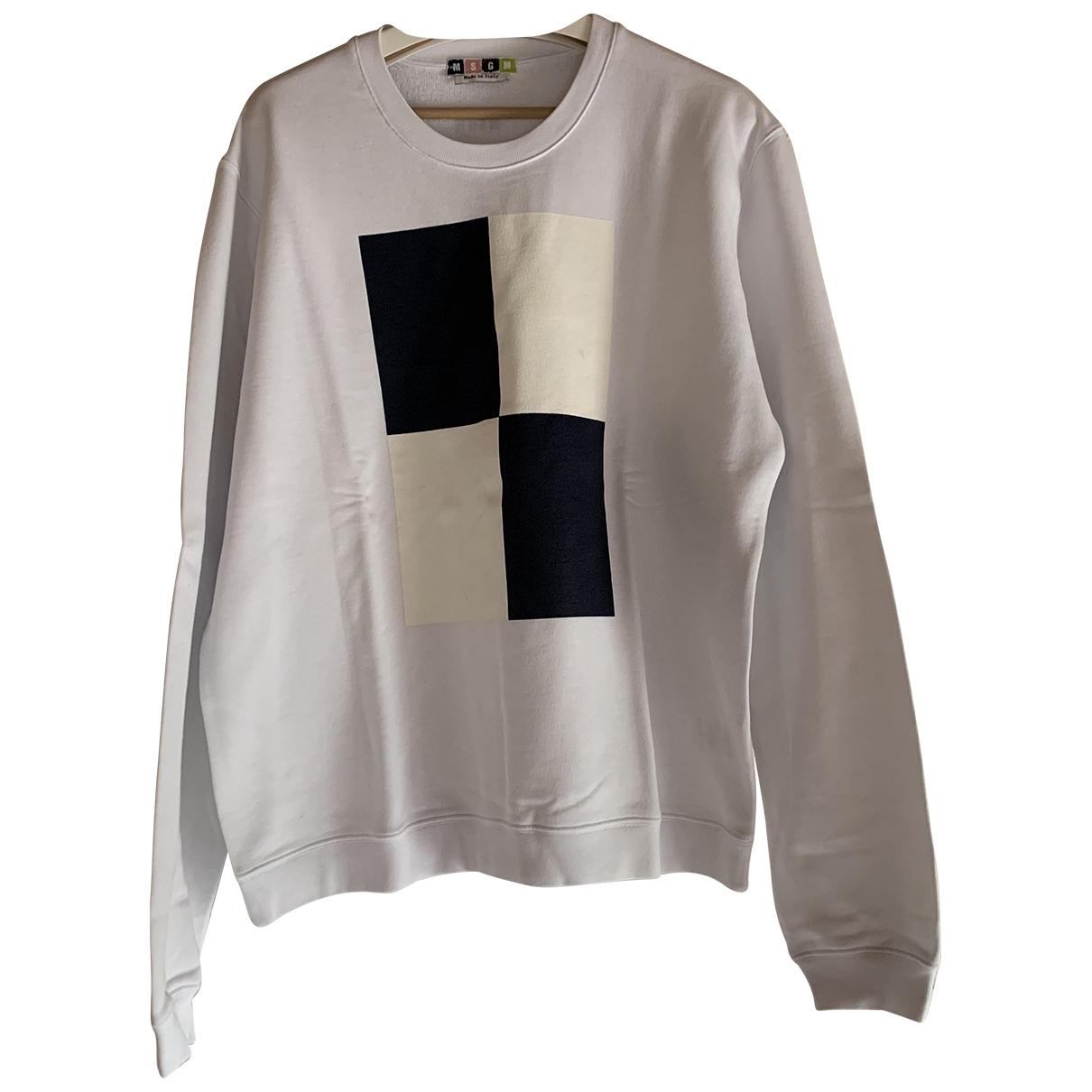 Msgm \N White Cotton Knitwear & Sweatshirts for Men XL International