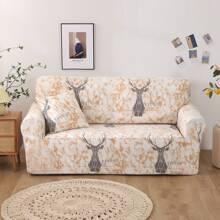 Deer Print Stretchy Sofa Cover