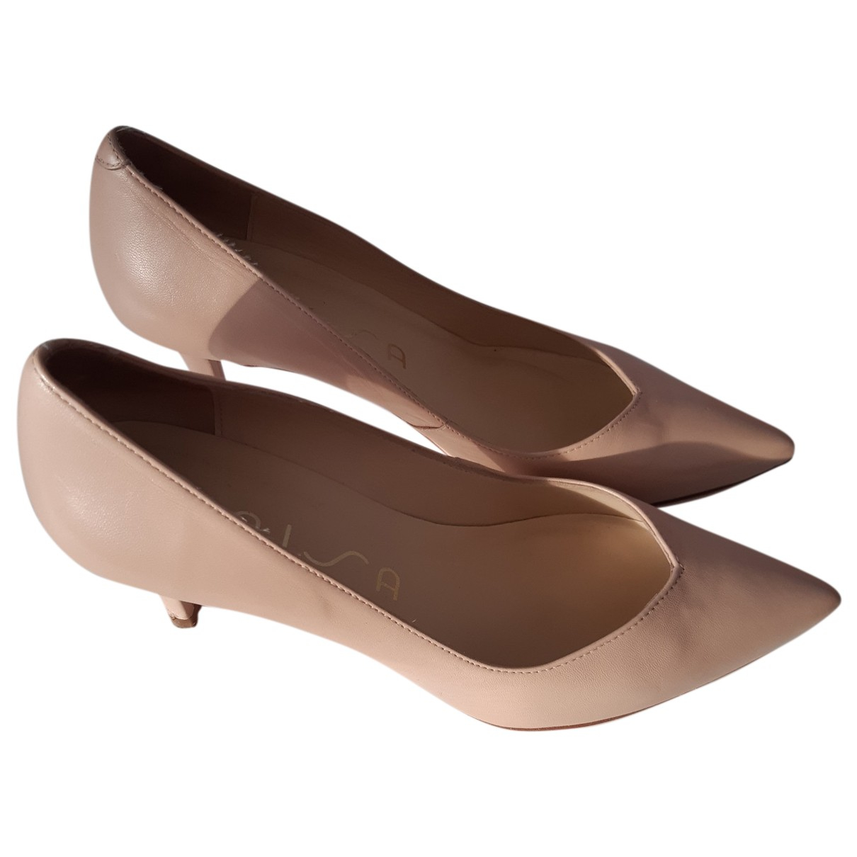 Unknown N Pink Leather Heels for Women 38 EU