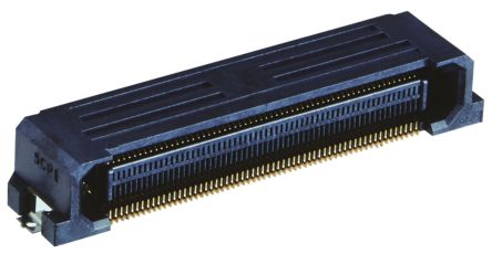 Hirose , FunctionMAX FX20 0.5mm Pitch 120 Way 2 Row Right Angle PCB Socket, Surface Mount, Solder Termination