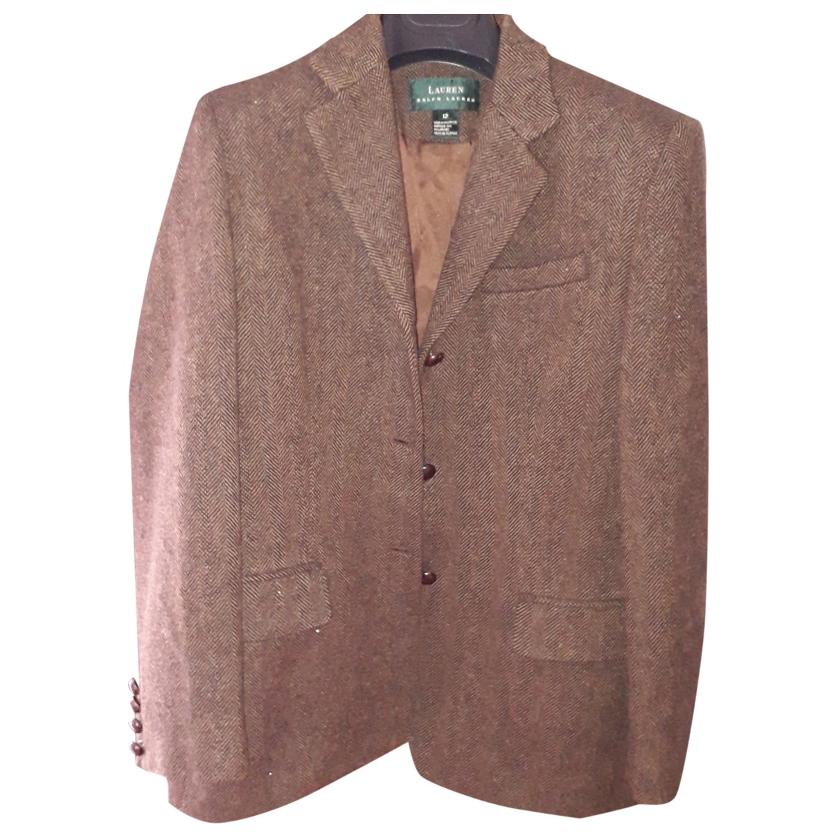 Lauren Ralph Lauren - Veste   pour femme en laine - marron